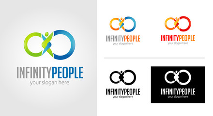 Infinity People Logo Template