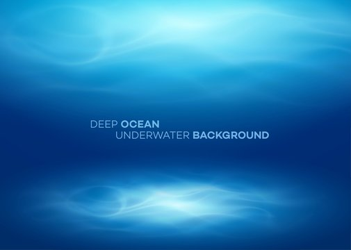 Blue deep water and sea abstract natural background. Vector illustration
