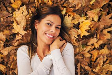 Autumn portrait of girl