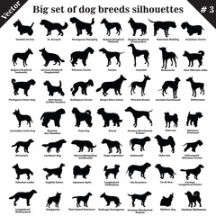 Vector dogs silhouettes 3