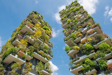 Photo sur Plexiglas Milan Milan vertical forest