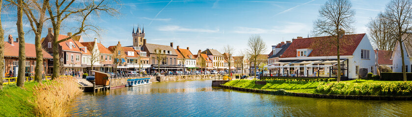 Historic town of Sluis, Zeelandic Flanders region, Netherlands Wall mural