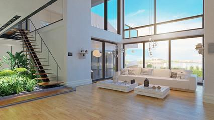 modern house interior design. Fototapete