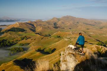Morning view from Te Mata Peak, New Zealand