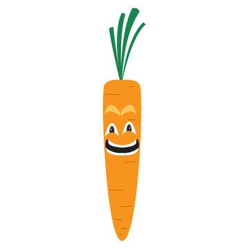 Happy carrot cartoon image. Vector illustration design