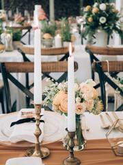 Wedding venue. Wedding decoration.