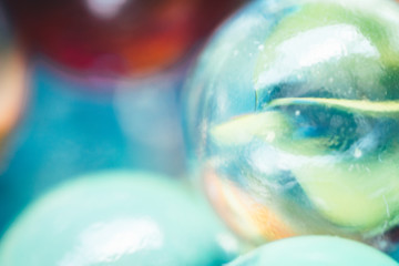 Beautiful colorful marbles