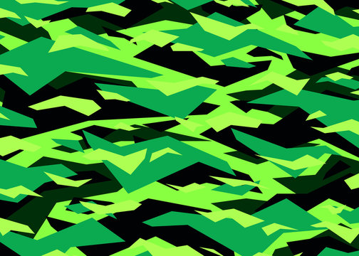 Neon green modern camouflage pattern. vector background illustration for fashion, surface design for web, home decor, fashion, surface, graphic design