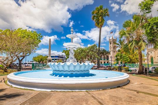 Fountain in city centre of Bridgetown, Barbados.