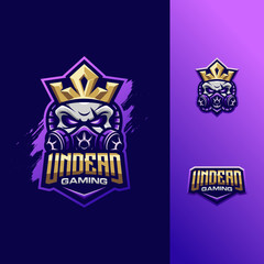 awesome illustration skull king logo sport