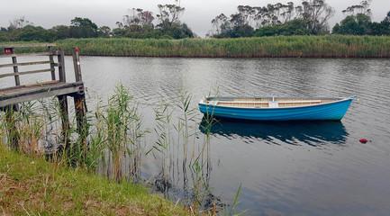 Blue dinghy