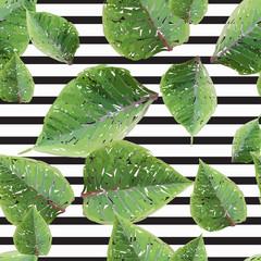 Deurstickers Retro sign modern botanical seamless pattern