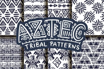 Seamless aztec vector pattern.