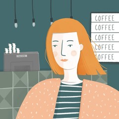 Lady and Coffee