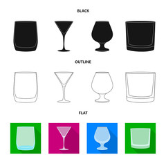 Vector illustration of form and celebration icon. Collection of form and volume stock symbol for web.