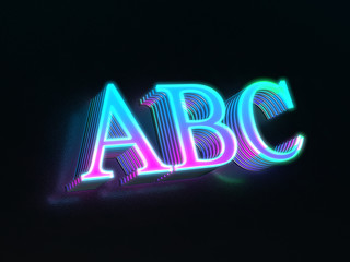 d56081996d ABC - beautiful colored glass abc alphabet letters glowing in the dark