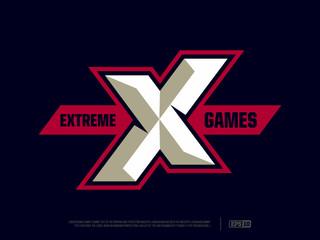 Modern professional letter emblem for extreme games