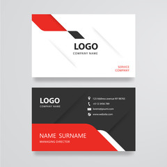 White and grey business card flat design template vector
