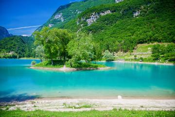 beautiful colours of the mountain lake Tenno Fototapete