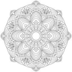 Flower Mandala. lace ornament in oriental style. Vintage decorative elements. Vector illustration.
