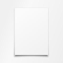 Blank White Paper Sheet Vector