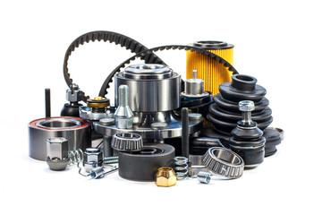 Parts for cars. Hub, belt; filter. Assortment.