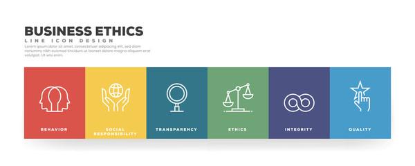 Business Ethics Line Icon Design