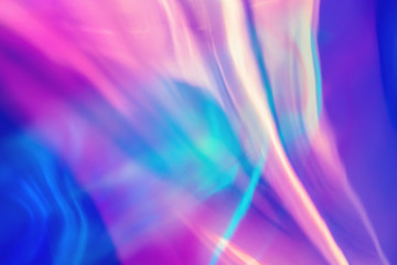Wall Mural - Abstract trendy holographic background in 80s style. Blurred texture in violet, pink and mint colors. Synthwave. Vaporwave style. Retrowave, retro futurism, webpunk