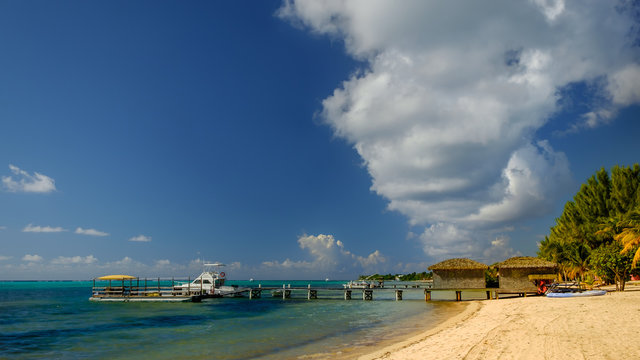 Pier on  South Hole Sound, Little Cayman, Cayman Islands