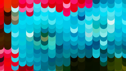 Abstract Red and Blue Geometric Shapes Background Vector Graphic Wall mural