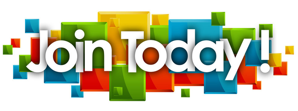 join today word in rectangles background