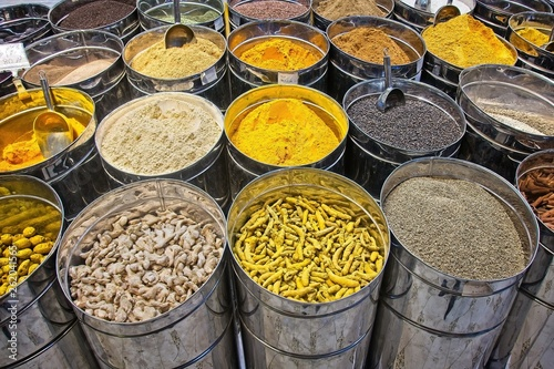 Indian spices at the market in Dubai