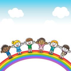 Aluminium Prints Rainbow 世界の子供達