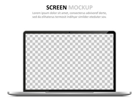Screen mockup. Laptop with blank screen for design