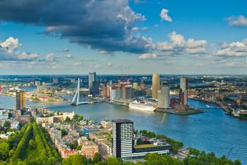 Tuinposter Rotterdam Rotterdam in den Niederlanden, Europa