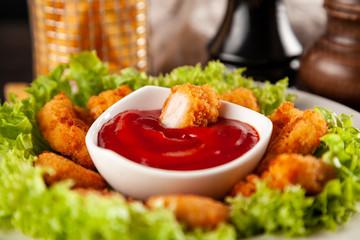 Fotoväggar - Crispy chicken nuggets