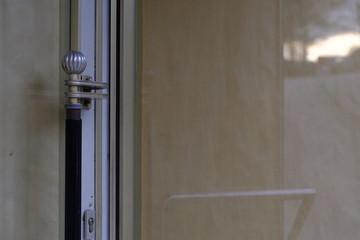 Glass door of a building