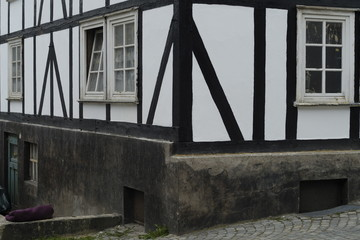 Timber framed old traditional house