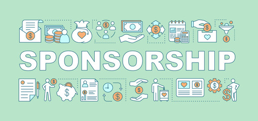 Sponsorship word concepts banner