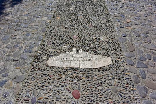 Decorative Stone Walkway in Saint Paul de Vence, France