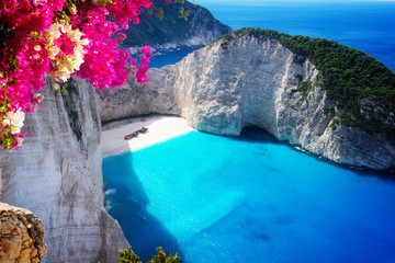 Beautiful lanscape of Zakinthos island Wall mural