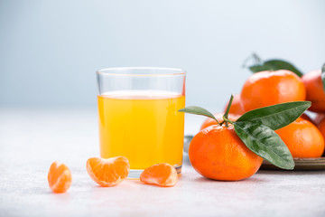 Glass of mandarin juice