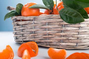 Full basket of mandarin
