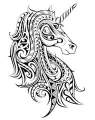 Unicorn decorative tattoo