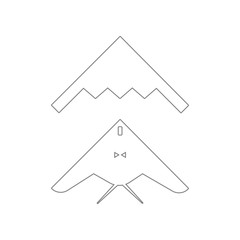 stealth, bomber icon. Element of Army for mobile concept and web apps icon. Outline, thin line icon for website design and development, app development