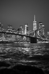Printed kitchen splashbacks Brooklyn Bridge Brooklyn Bridge Skyline in Black and White