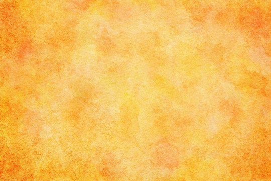 水彩 テクスチャ 春 オレンジ 背景