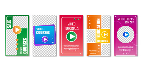 Video Education Courses and Tutorials Sale Pages.