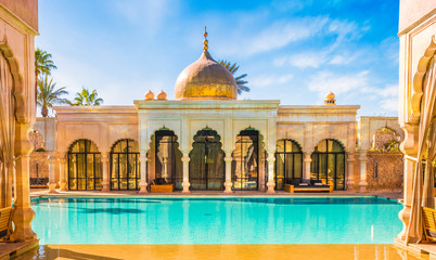 Photo sur Plexiglas Maroc Namaskar palace, luxury hotel and spa of Marrakech, Morocco