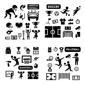 sport isolated icon set illustration vector